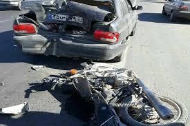 سهم رانندگان موتور سیکلت و عابرین پیاده در تصادفات رانندگی چقدر است؟